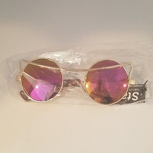 Accessories - Mirror lens sunglasses pink purple orange new